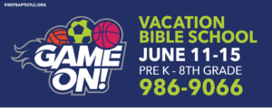 Join us for a fun filled week at Vacation Bible School!